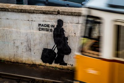 Graffit of shadow 'Made in Crisis'