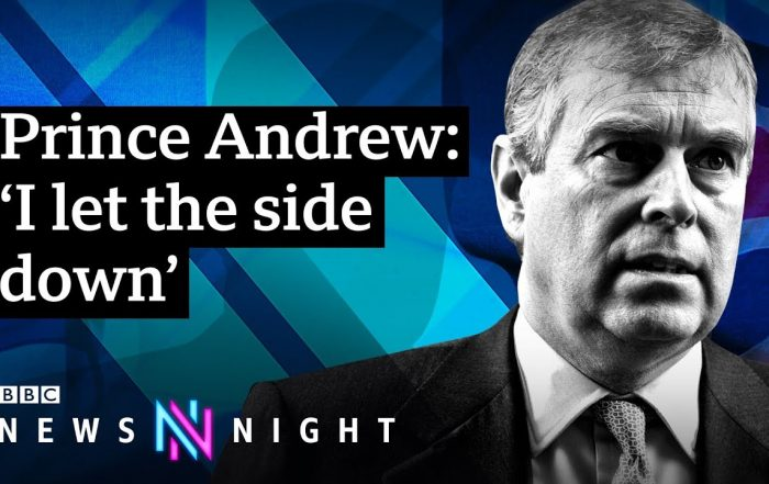 Head & shoulders of Prince Andrew & BBC logo